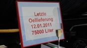 Erinnerung an die letzten 75'000 Liter Heizöl