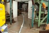 Schlauchleitung zur Betonförderung
