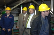 Holger Weyl (SVTI), Michael Kloke und Johannes Buss (WWAG) und Daniel Hardegger (Ecotherm AG)